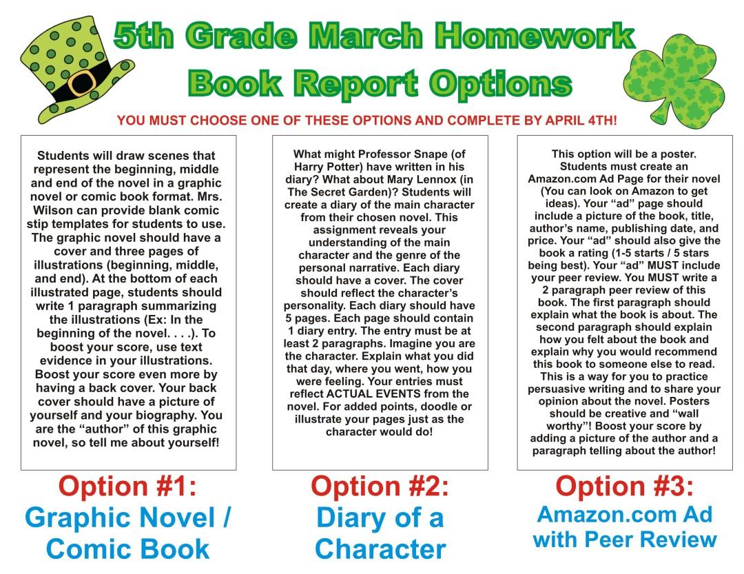MarchBookReports